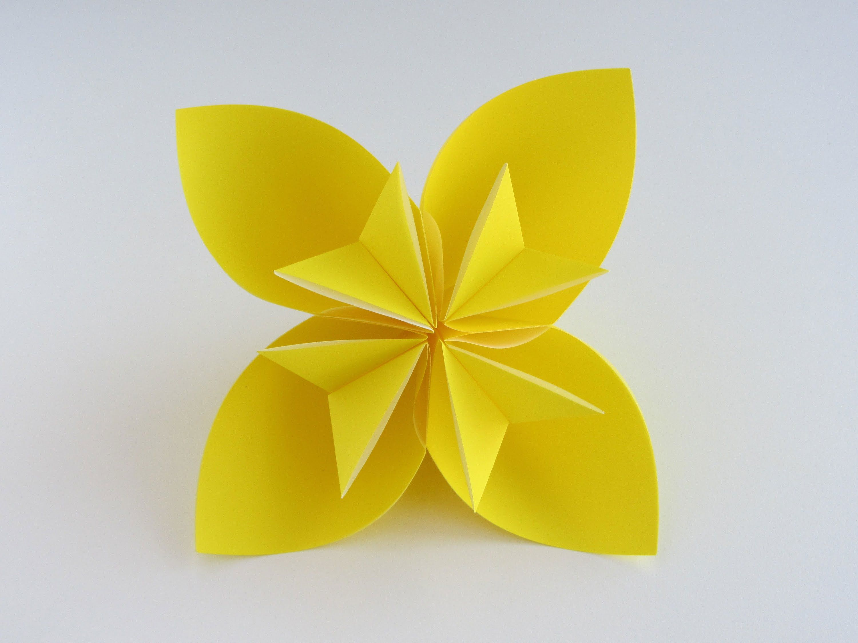How to make the Easy Origami Kusudama Flower. Step by Step ...