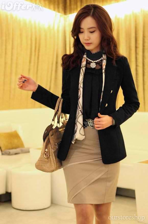 Women-business-suit-skirt-highwaist-splice-mini-skirt-a2d6.jpg (580u00d7879) | Career Clothes ...