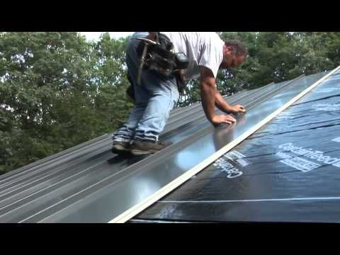 Learn How To Install Metal Roofing   Metal Shingles Roof Installation    YouTube