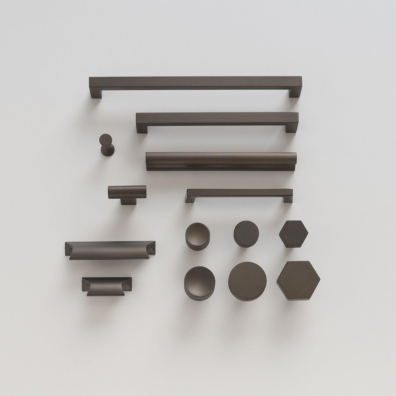 Kitchen Drawer Hardware Upgrading Countertops Mid Century Knob Matte Bronze Cabinet Knobs Client