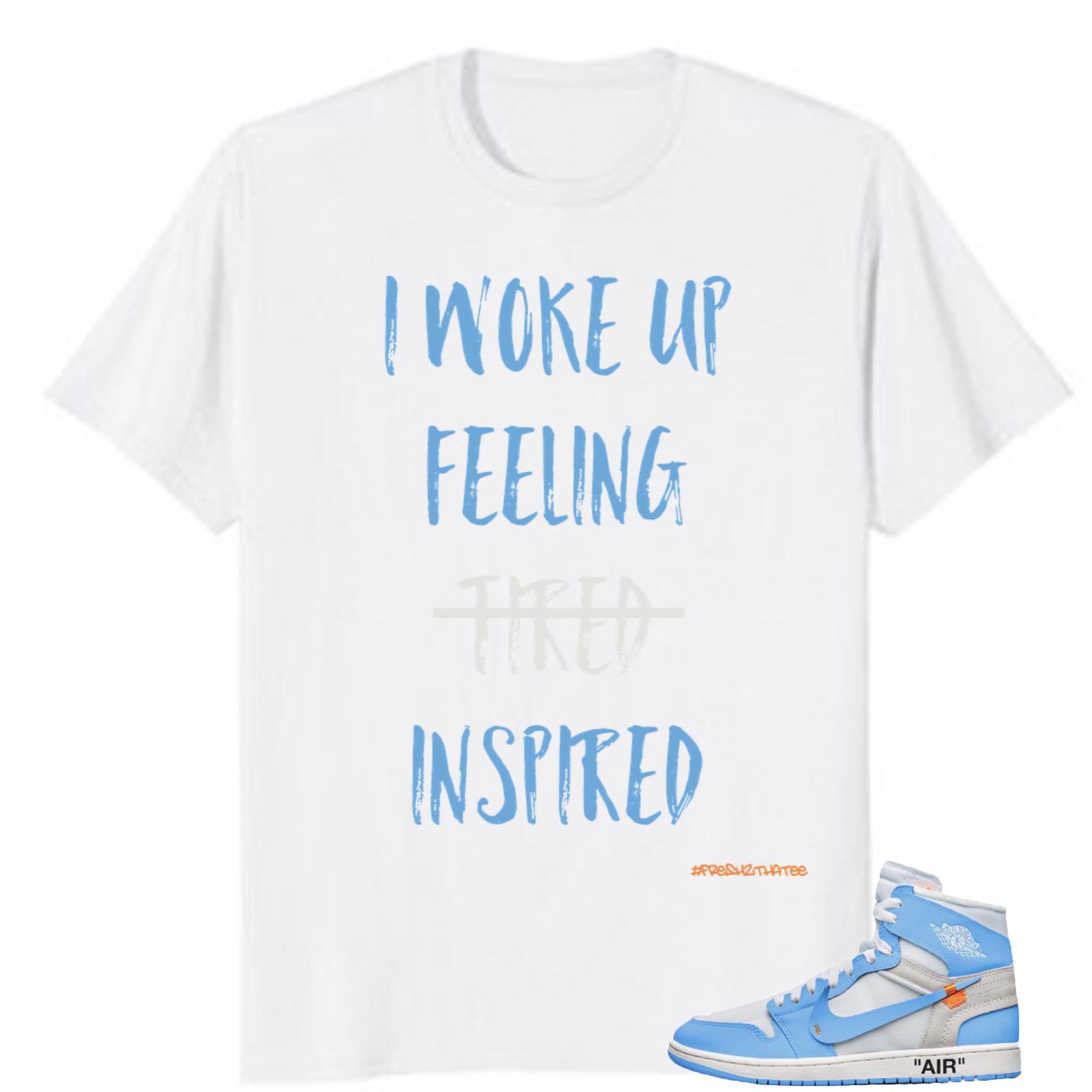 Jordan 1 High Off White University Unc Powder Blue T Shirt Jordan1 Jordan Tshirt Fashion Inspirational Mens Tshirts Mens Tops Blue Tshirt