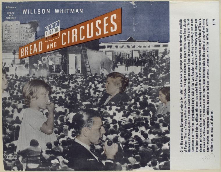Dust Jacket, Bread and Circuses by Willson Whitman, 1937