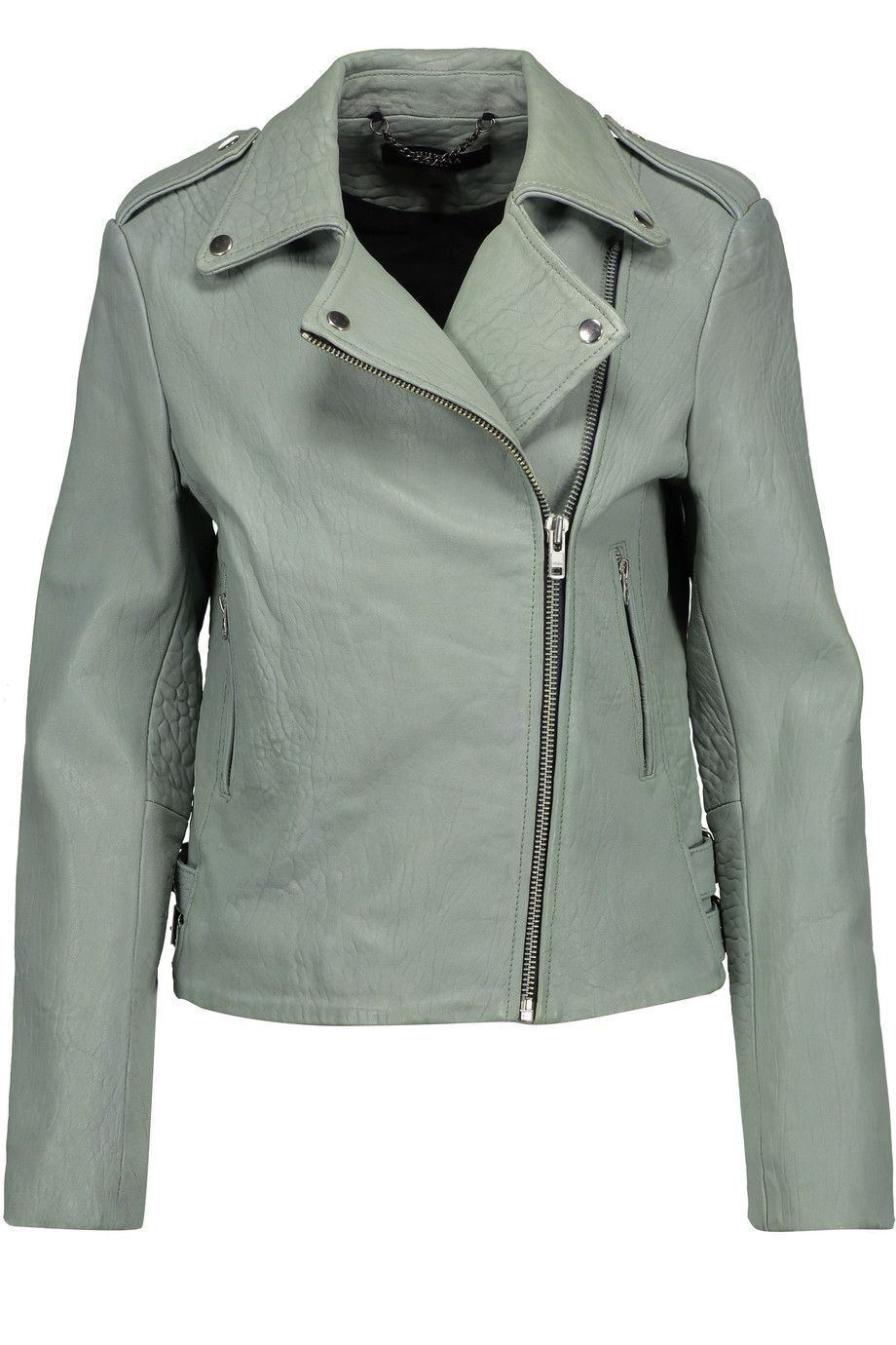 f7bc70093 Shop on-sale Muubaa Bubble Healey leather biker jacket. Browse other  discount designer Jackets   more on The Most Fashionable Fashion Outlet
