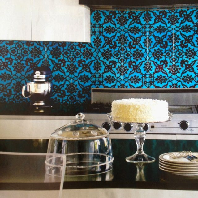 Such An Awesome Backsplash From House Beautiful May Turkish Patterned Tile Ann Sacks
