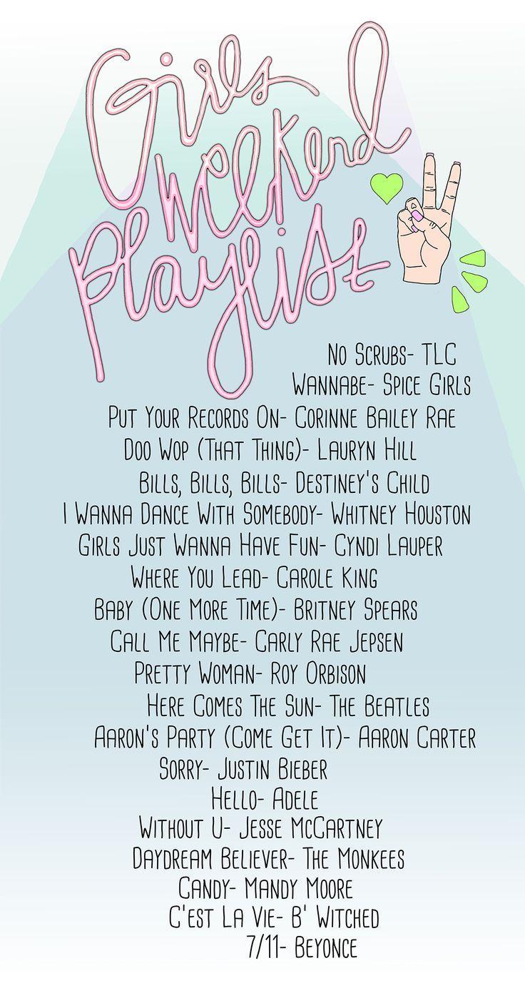 Girls Weekend Playlist Festival Playlist Ideas Music