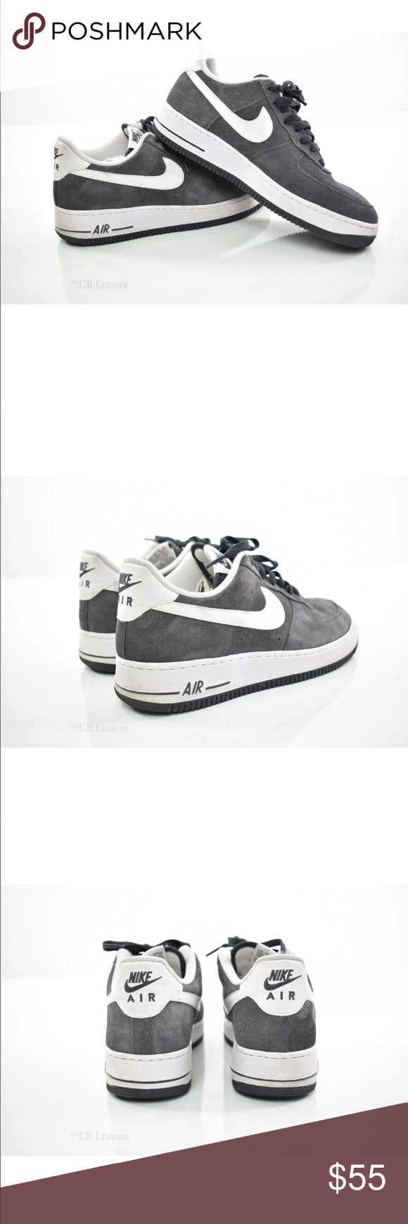 super popular fa4a0 7e4f7 NIKE AIR FORCE 1 ANTHRACITEWHITE SUEDE 315122-067 Gently Worn Good overall  condition