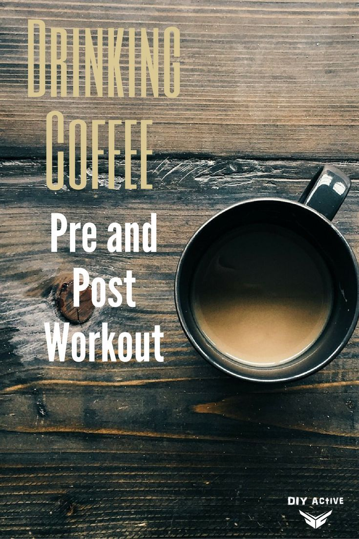Drinking coffee pre and post workout post workout drink