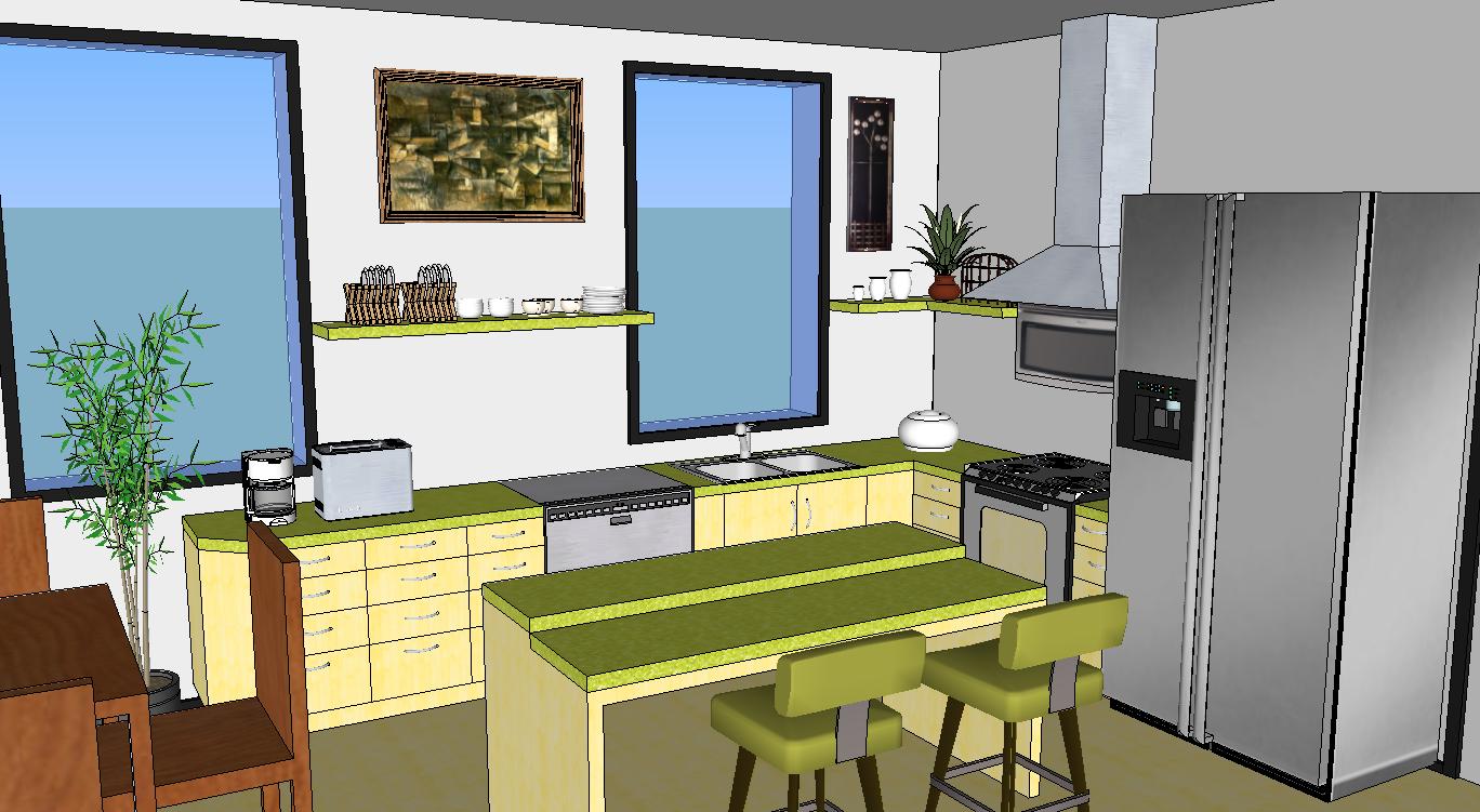 time google sketch user kitchen design cad sketchup interior design