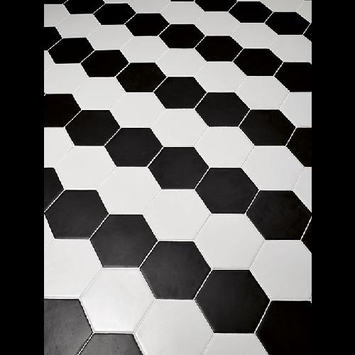 Carrelage Hexagonal 17 5x20 Tomette Design Noir Mat As De Carreaux Carrelage Hexagonal Hexagonaux Tomette Hexagonale
