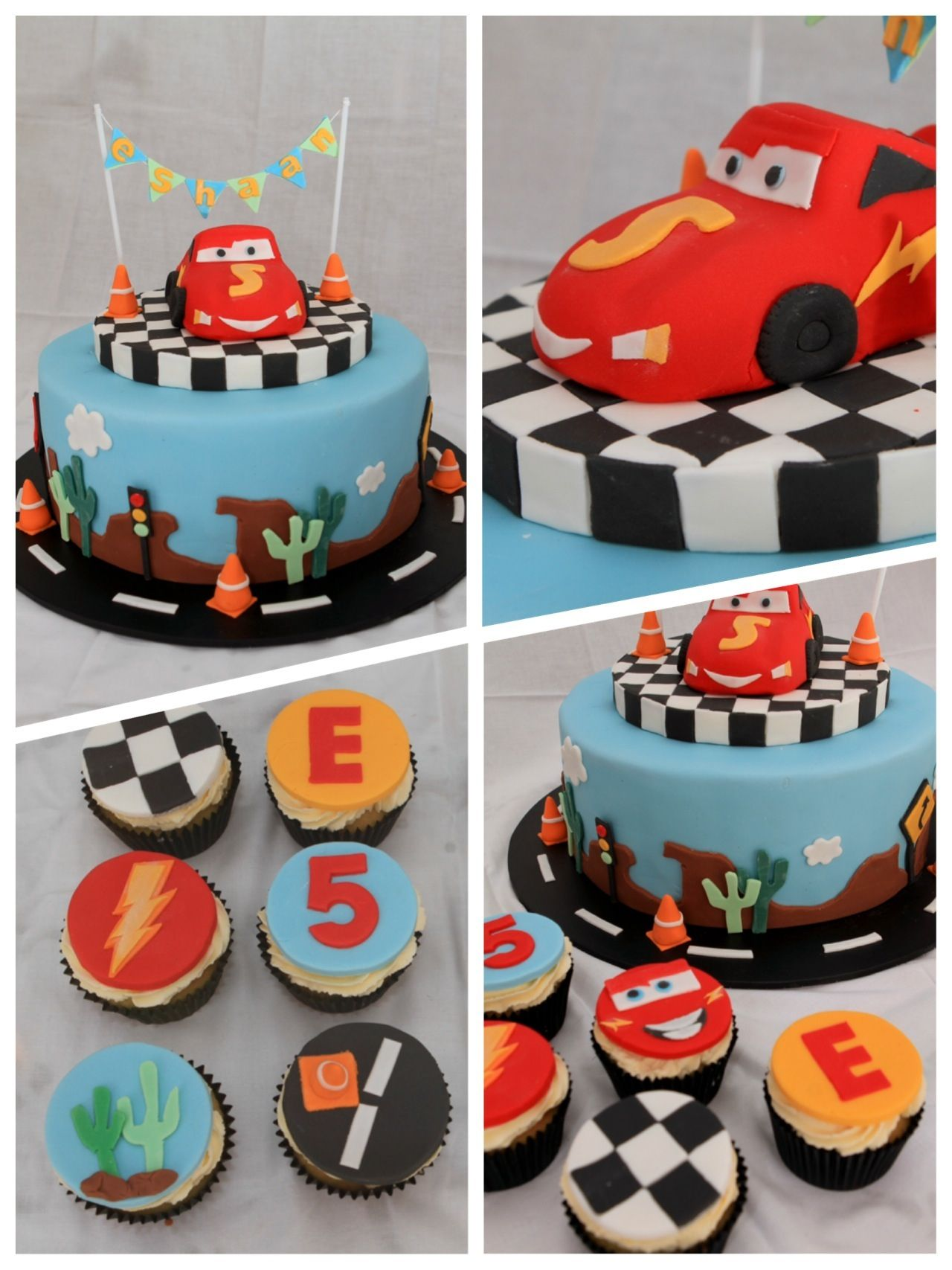 Lightning McQueen cupcakes Birthday VD Pinterest Lightning