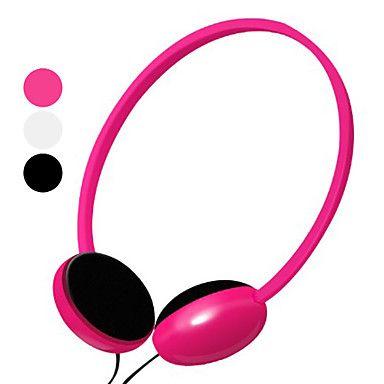 kanen kraftfuld bas ergonomiske hovedtelefon med mikrofon og lydstyrkekontrol (assorterede farver) – DKK kr. 54