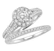 Bridal Ring with lots of diamond