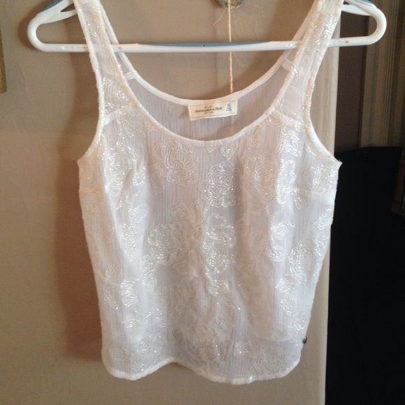 Abercrombie tank Beautiful beading detail. In great condition Abercrombie & Fitch Tops Tank Tops