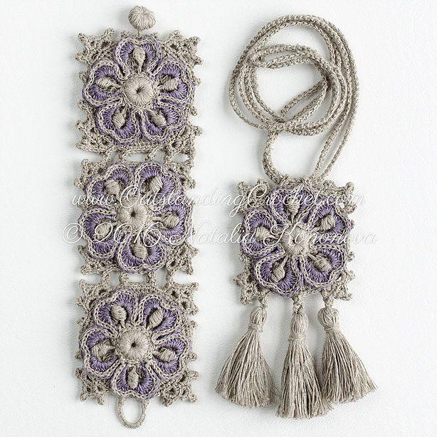 Wild Geranium Set Crochet Pattern | Crochet jewelry | Pinterest