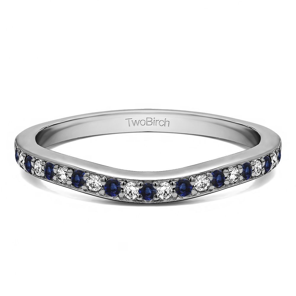 Dainty Curved Tracer Band ( 0.11 ct. twt.)