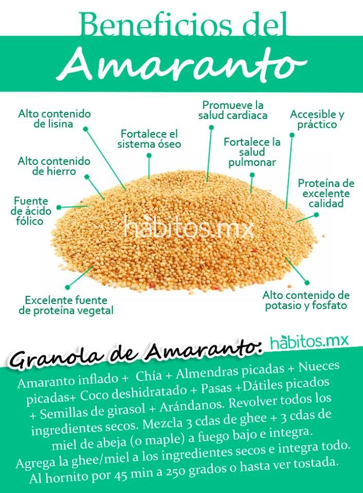 Hábitos Health Coaching Beneficios Del Amaranto Beneficios De Alimentos Frutas Y Verduras Beneficios Nutrición