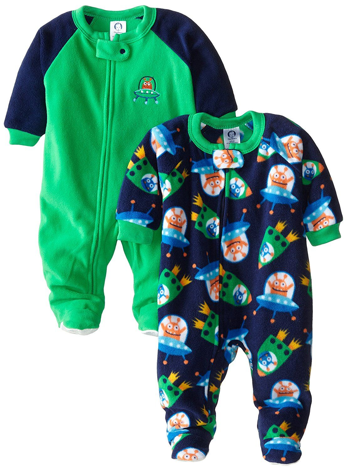 d1c8c73500 Amazon.com  Gerber Baby and Little Boys  2 Pack Blanket Sleepers  Clothing