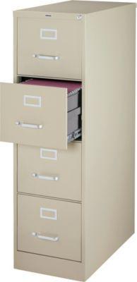Commercial 4 File Drawer Vertical File Cabinet Locking Putty Beige Letter 26 5 D 13443d Filing Cabinet Country Bedroom Furniture Home Office Furniture Design