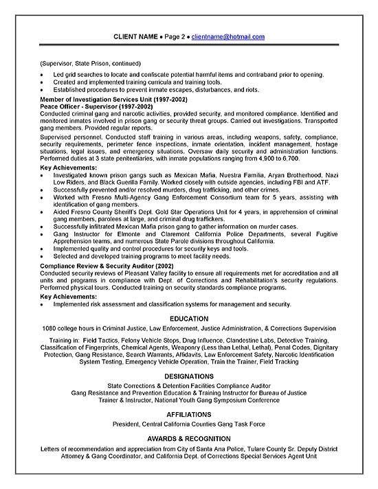 Detention Officer Resume Cover Letter -   wwwresumecareerinfo