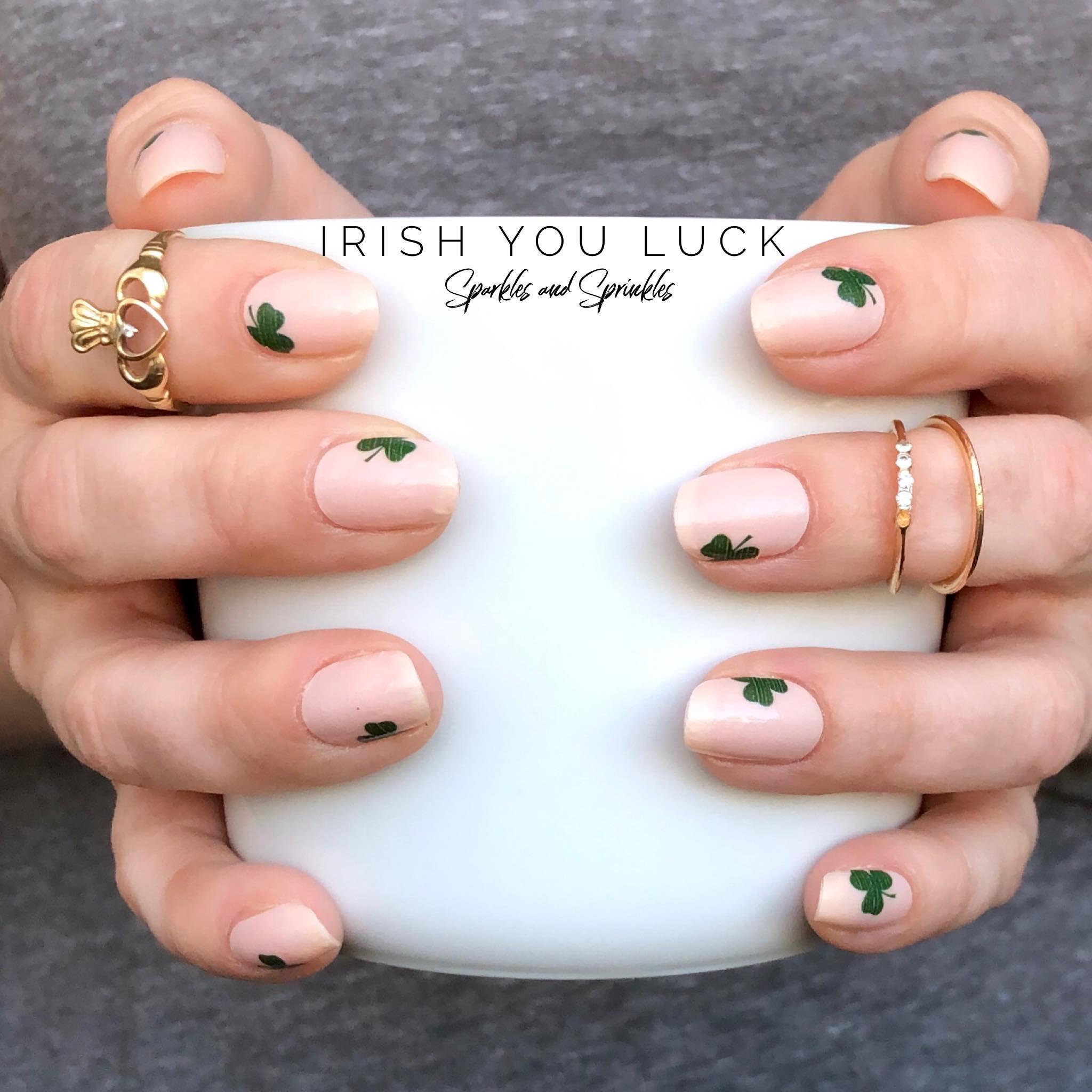 Irish You Luck Color street nails, Shamrock nails, Nails