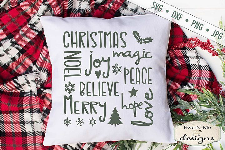 Download Christmas Joy Subway Art - Peace - Believe SVG DXF Files ...
