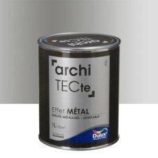 Peinture A Effet Architecte Effet Metal Dulux Valentine Gris Aluminium 1 L Peinture Effet Metal Metallise Metal