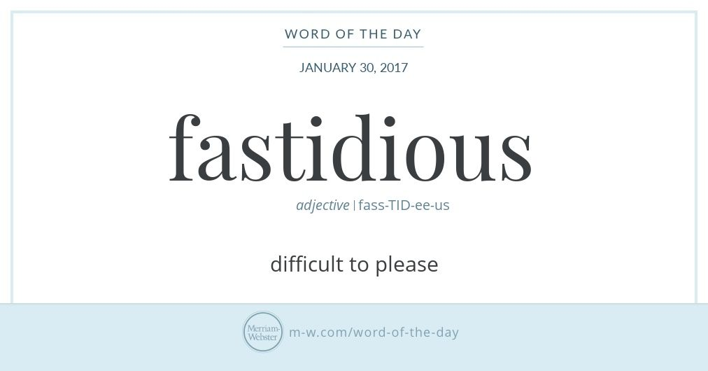 Word Of The Day Fastidious Offensive Words English Vocabulary Words Dictionary Words
