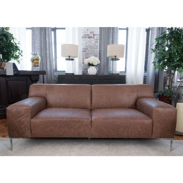 Chestnut Top Grain Leather Sofa Reviews Deals Prices 19614945