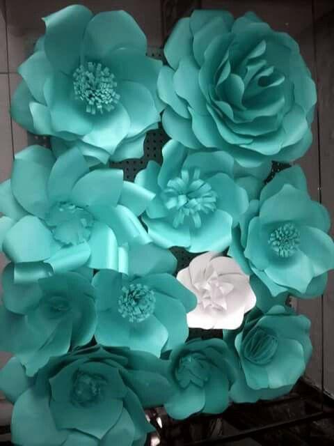 Painel de flores de papel Decoraçao parede Aniversario 90 anos Festa Pinterest Flores de  -> Decoração De Flores De Papel Para Aniversario