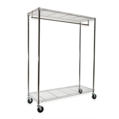 Portable And Expandable Garment Rack In Black Chrome 18 Months Inspiration See More Detail About Extrawide Heavy Duty Garment Rack In Chrome
