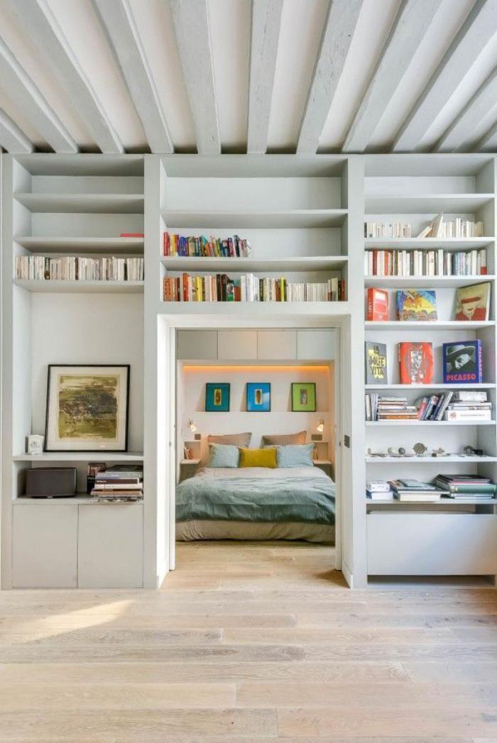 La tendance poutres apparentes - 41 bons exemples - Archzinefr Salons - poutre pour mur porteur