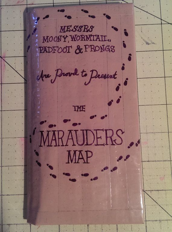 Harry Potter Marauders Map Wallet Duct Tape By