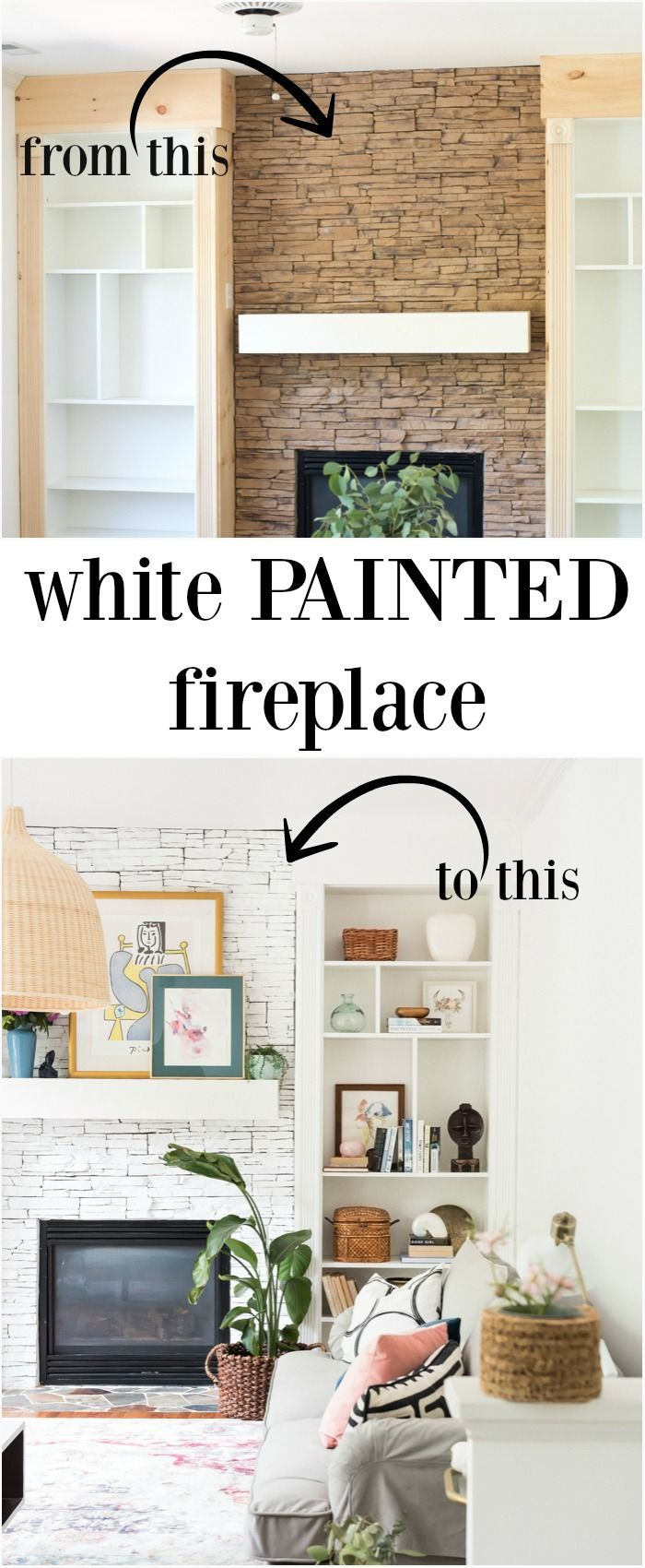 Painted fireplace bright paint fireplace and brick fireplace redo
