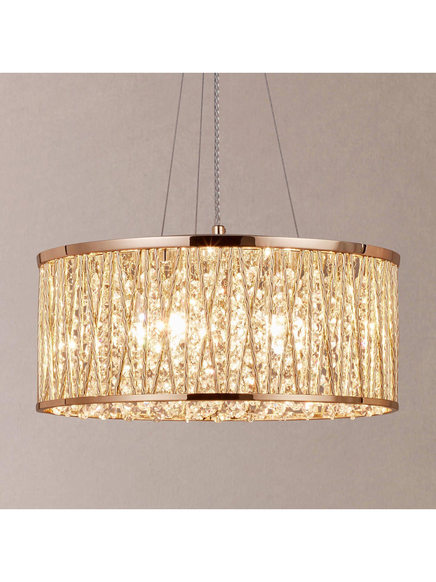 John Lewis Partners Emilia Large Crystal Ceiling Light Chrome Crystal Ceiling Light Ceiling Lights Gold Ceiling Light