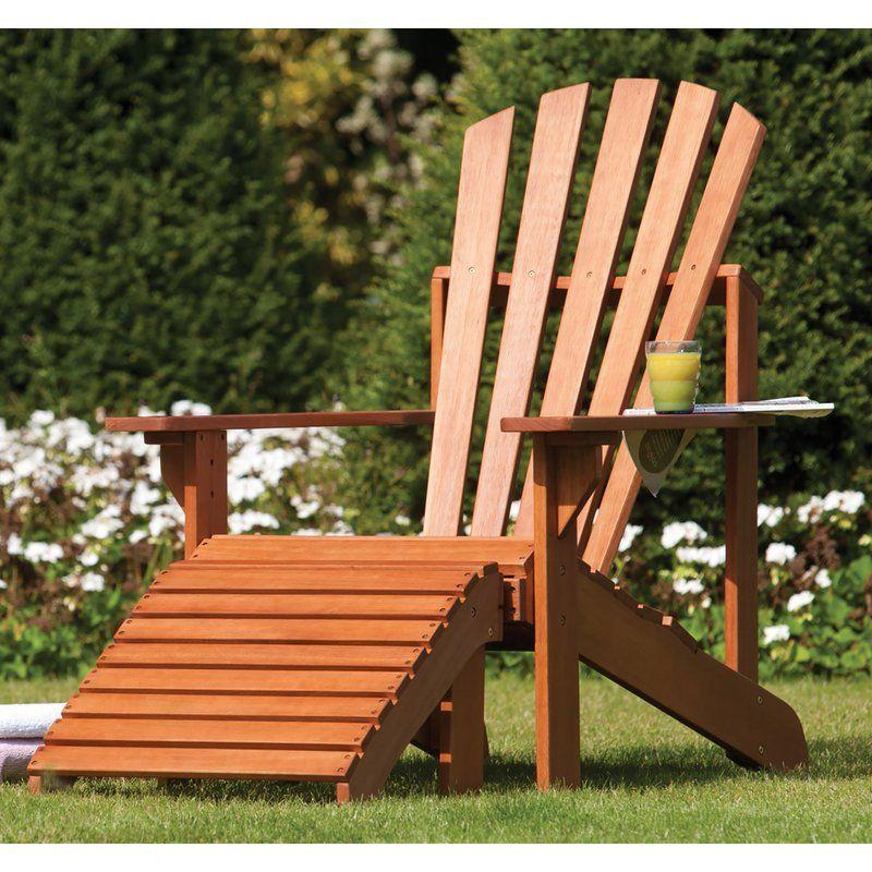 Roesch Adirondack Sun Lounger Wooden Garden Chairs Garden