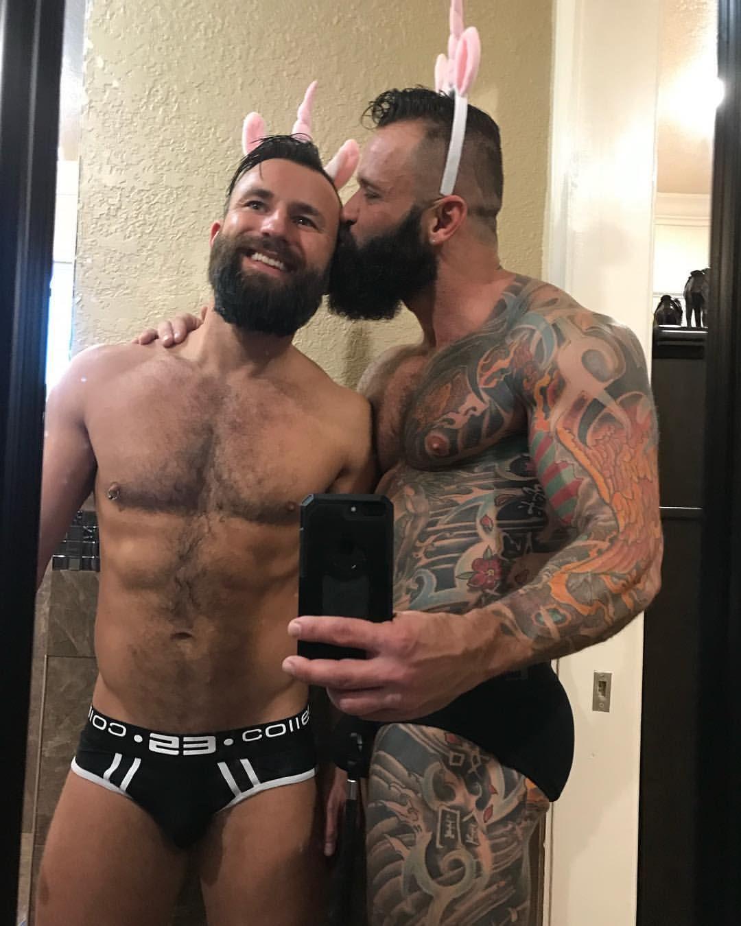 Bushy men likes each other
