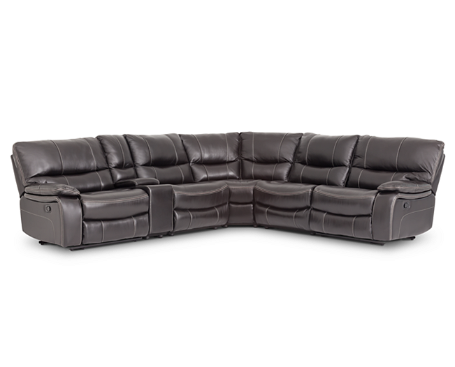 Stupendous Sectionals Aviator 6 Pc Sectional Leather Luxury With A Caraccident5 Cool Chair Designs And Ideas Caraccident5Info
