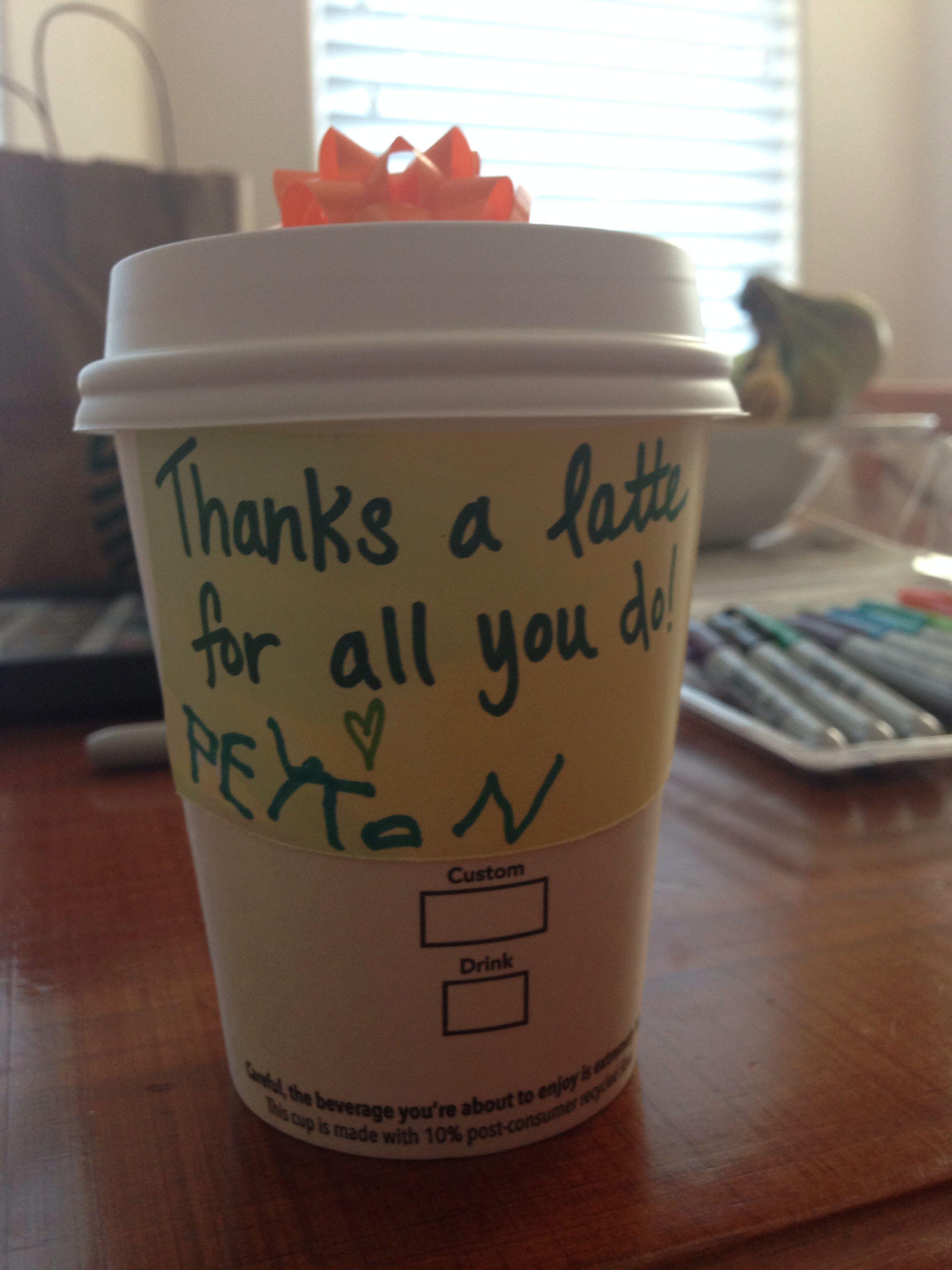 End of year teacher gift ideas. Starbucks gift card inside ...