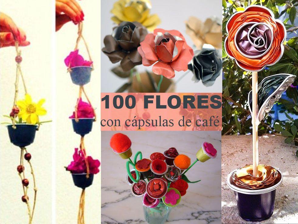 Flores Con Cápsulas De Café Nespresso Manualidades Manualidades Con Capsulas Nespreso Manualidades Recicladas