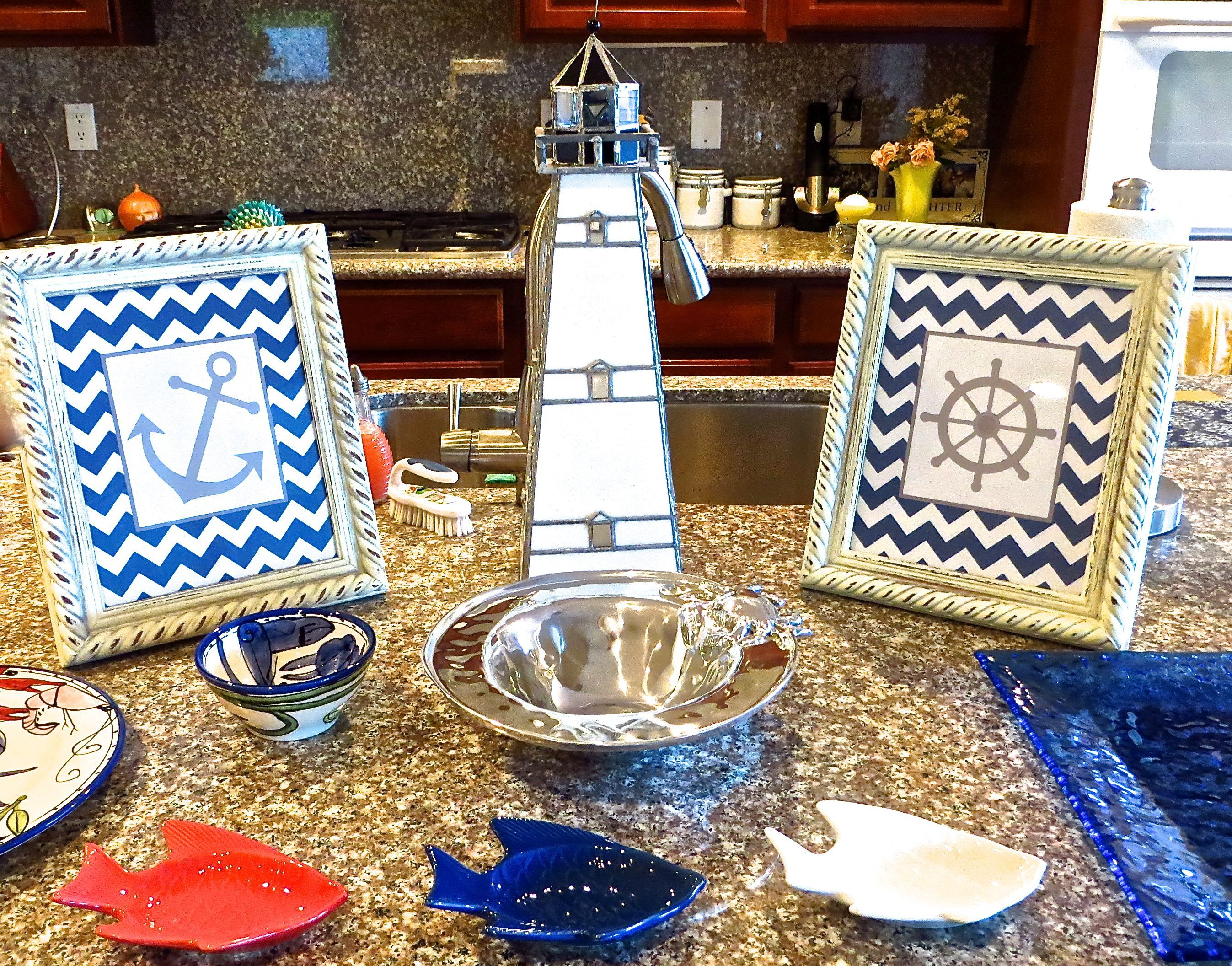 Delightful Amazing Nautical Themed Baby Shower Decor With Lighthouse