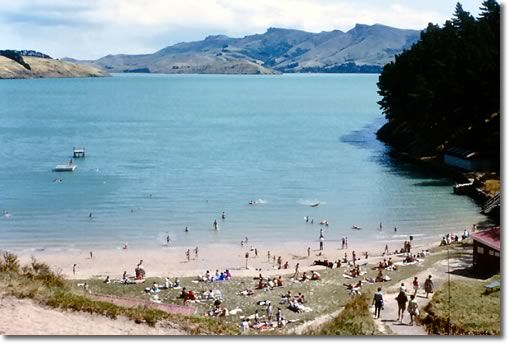 Corsair Bay, Lyttelton.    Taken 9th January, 1964.     Photo CC0019
