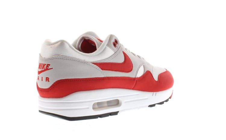 23115cafe55b5a Check out the Air Max 1 Anniversary Red (2017 2018 Restock Pair) available  on StockX