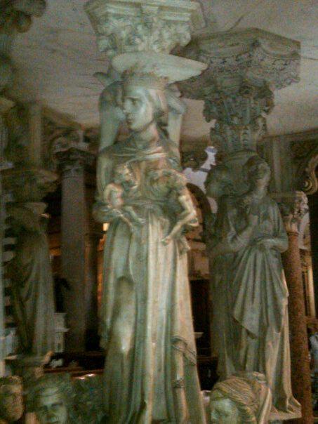 Saint Wetnurse.  Altar pillars, Lucca, Italy