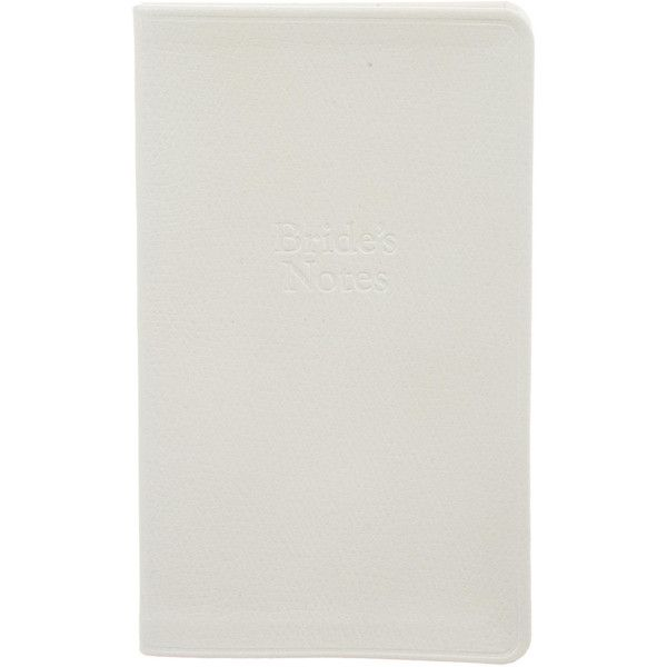 Pre-owned Tiffany & Co. Brides Notes Notepad (219.525 COP) ❤ liked on Polyvore featuring home, home decor, stationery and white