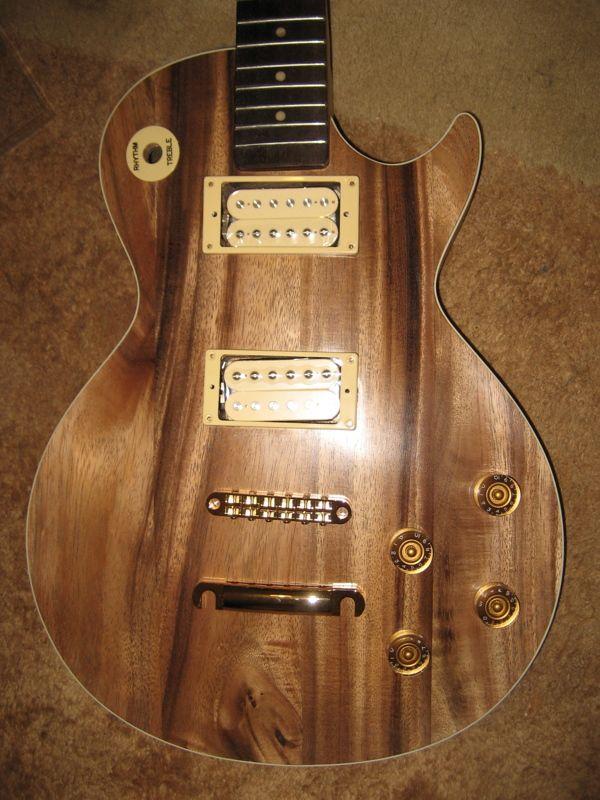 Walnut Les Paul guitar