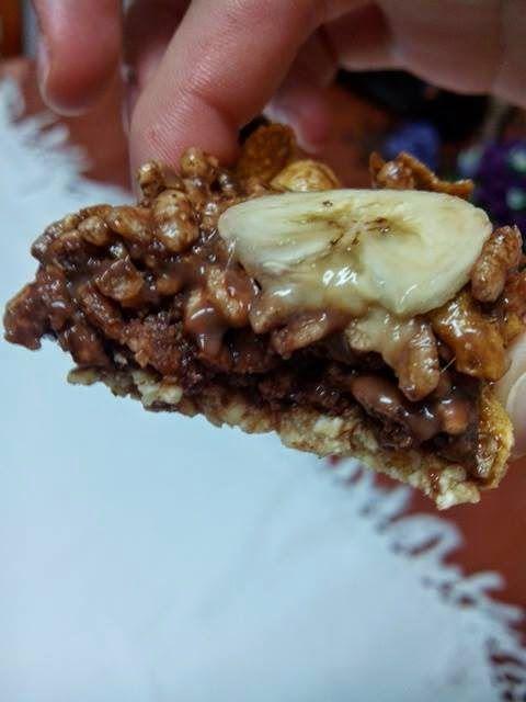Glúten Free Food: Barritas de cereais com chocolate e banana / Cerea...