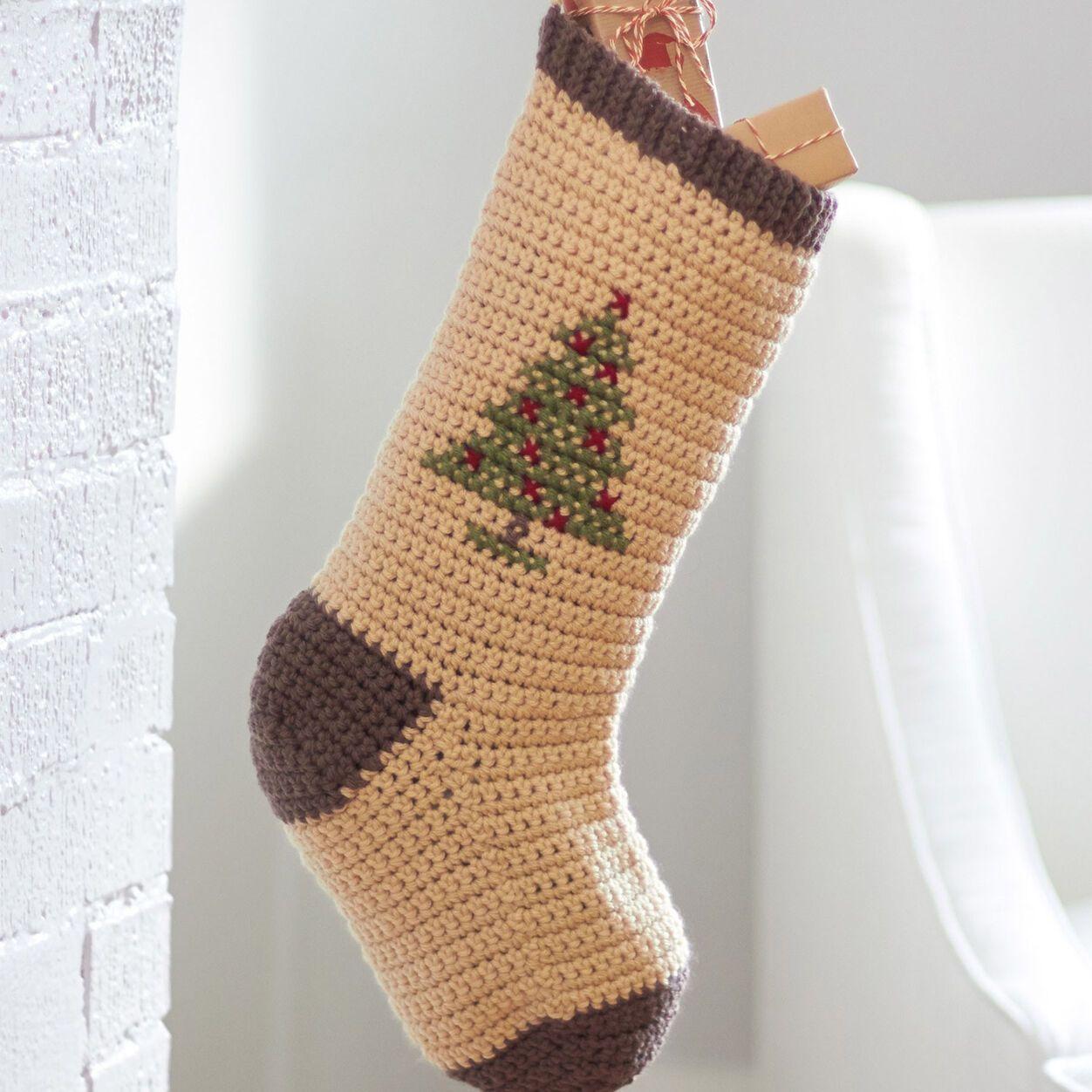 Bernat cross stitch christmas stockings snowman