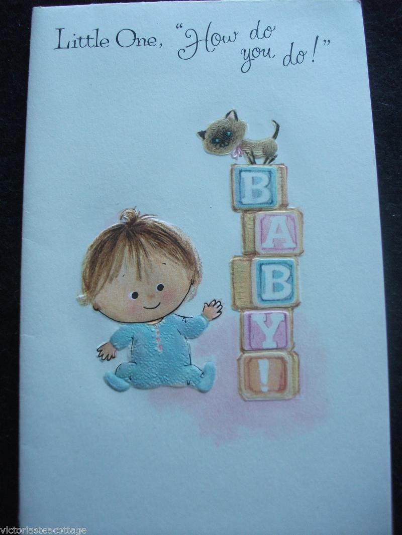 Vintage Greeting Card 'Little One How do You do ' Baby Siamese Cat Embossed Cute | eBay