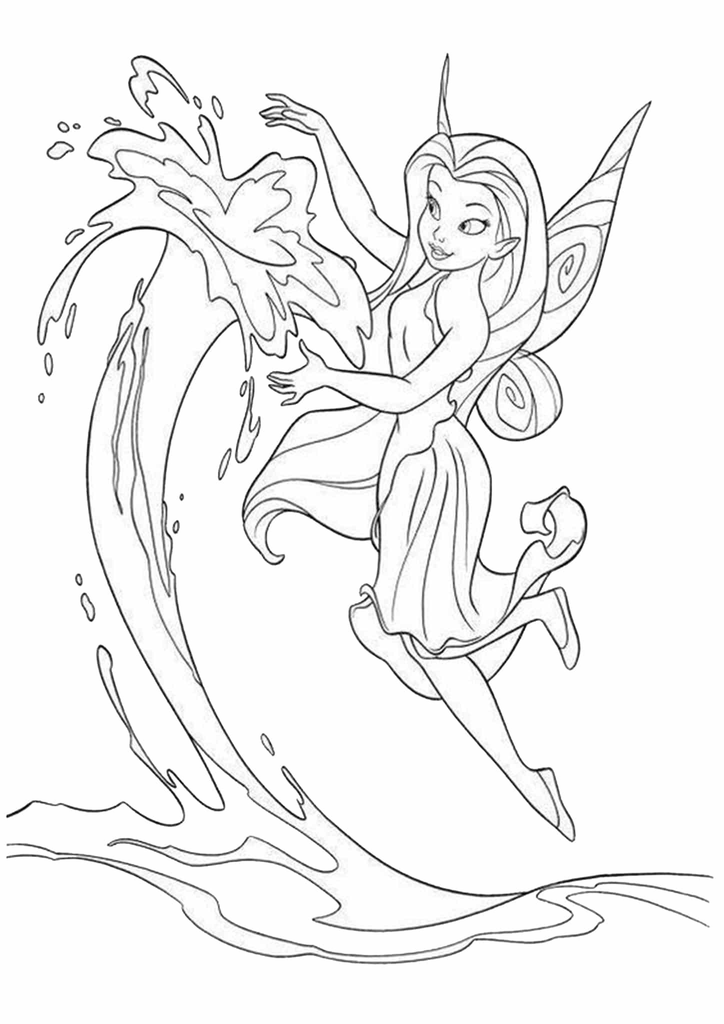 Free Easy To Print Fairy Coloring Pages In 2021 Tinkerbell Coloring Pages Fairy Coloring Pages Disney Coloring Pages