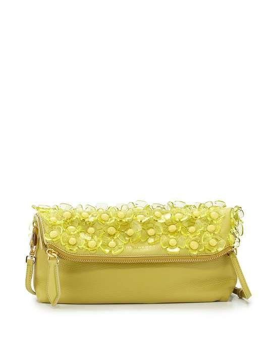 Burberry   Floral Leather Shoulder Bag, Pale Lemon #burberry #clutch